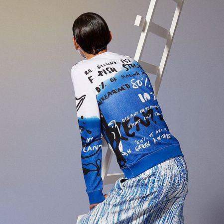 kenzo - no fish no nothing - charity sweatshirt - back view - buy it on your break - handbag.com