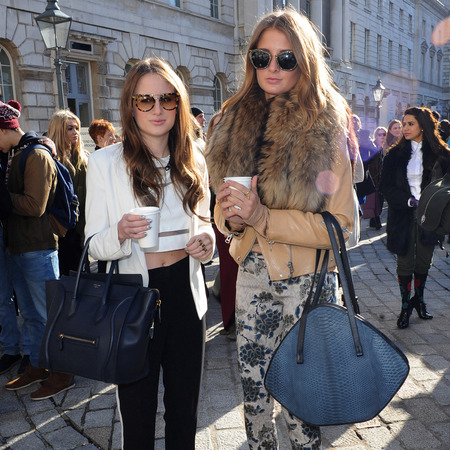 Made in chelsea girls designer handbags - rosie fortescue - celine handbag - millie mackintosh - lfw 2013.com