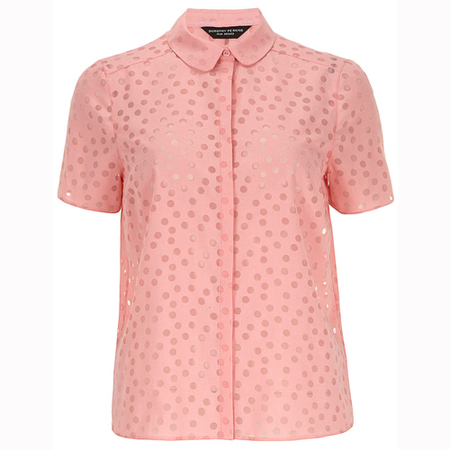 pastel pink blouse - dorothy perkins - how to wear pastel trend - spring 2014 fashion trend - handbag.com