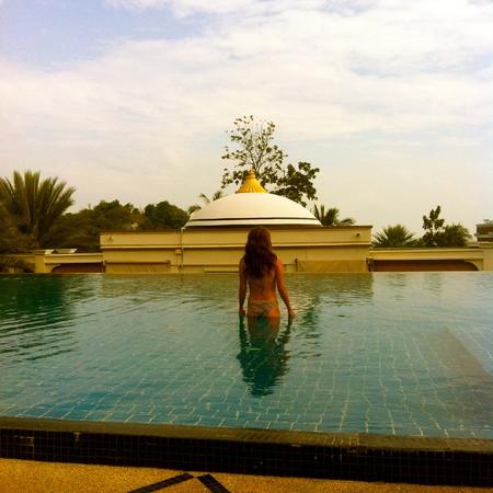 Relaxing in the pool at Sanctuary Resort, Koh Samui, Thailand - travel - handbag.com