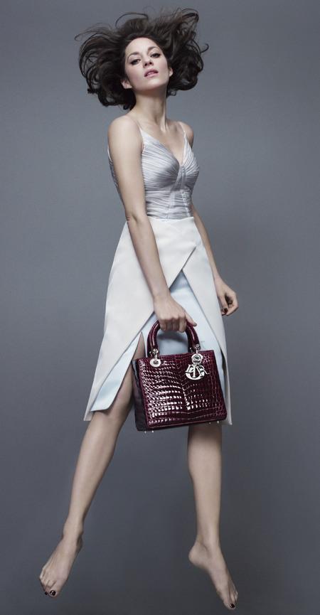 marion cotillard - lady dior handbag campaign - spring summer 2014 - baby blue dress - handbag.com