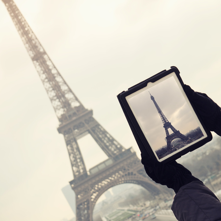 photo of eiffel tower - best travel apps feature - travel bag - handbag.com