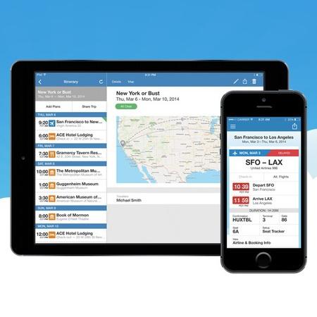 Tripit - travel app - best travel apps - travel bag - handbag.com