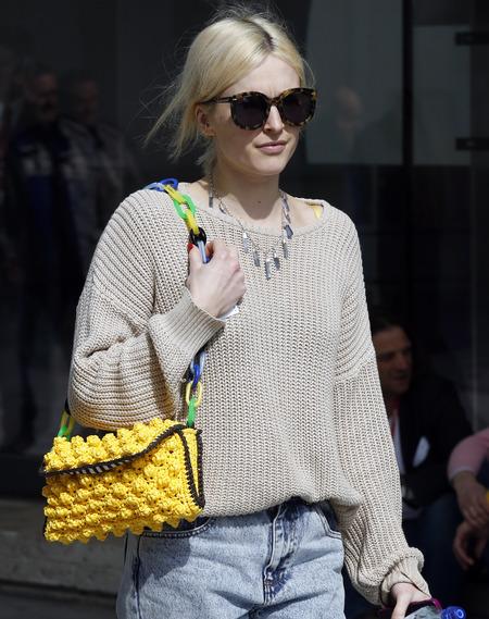Missoni yellow crochet bag