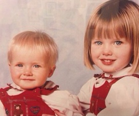 Helen Flanagan and sister - throwback thursday - school girl - young photo - celebrities when children - handbag.com