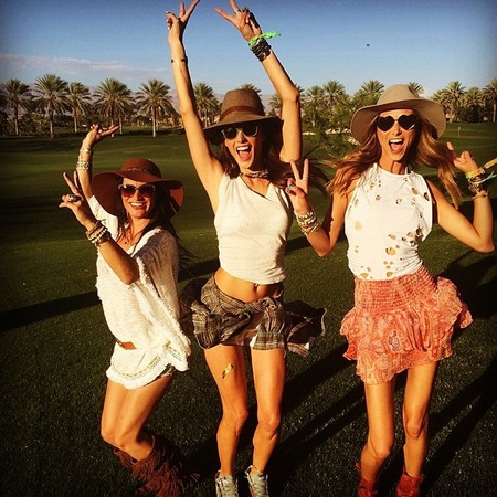 Alessandra Ambrosio at Coachella 2014