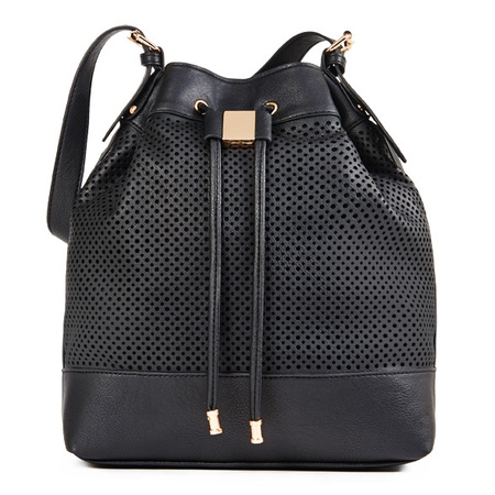 Buy it on your break - just fab - bucket bag - drawstring black handbag - handbag.com