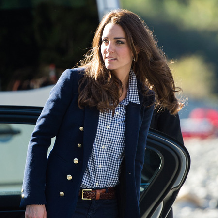 Kate Middleton - new zealand tour - gingham shirt - zara jacket - wedges - handbag.com