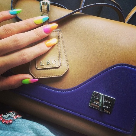 lily allen rainbow nail art - new prada handbag - celebrity freebies - designer bag - handbag.com