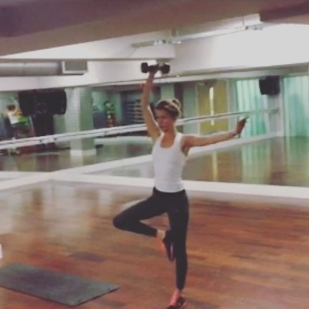 Millie Mackintosh and her balancing workout
