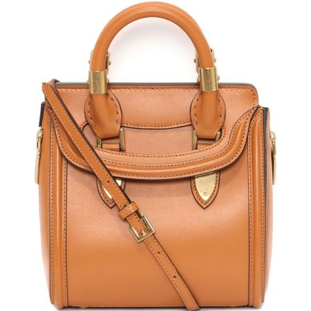 mini heroine bag - alexander mcqueen handbag - british designers - tan leather handbag - new designer bags - handbag.com