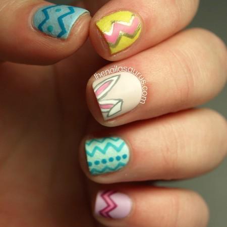 nailausaurus pastel easter nails  - easter nail art - beauty bag - handbag