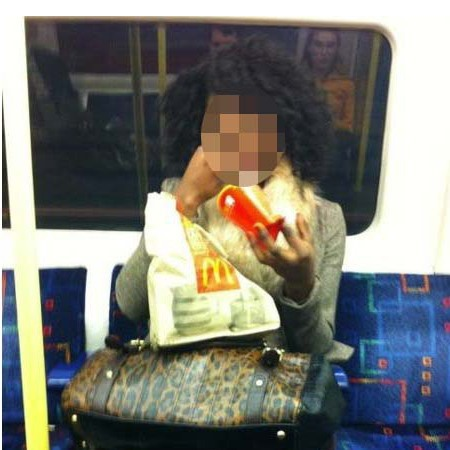 women who eat on tube facebook_page_news_ blurred face - handbag.com