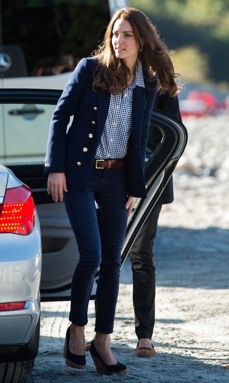 Navy Zara Jacket and jeans