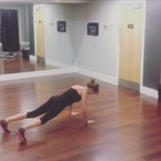 Millie Mackintosh's 'plank from hell'