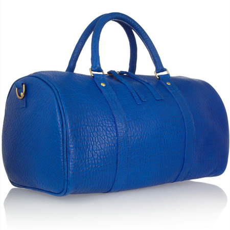 clare v duffle bag - weekend away - big bag - travel light - holdall - blue designer bag - handbag.com