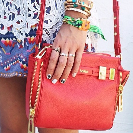coachella fashion - festival style - nail art - summer trends - red bag - handbag.com