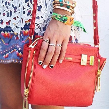 coachella fashion - festival style - nail art - summer trends - red bag - handbag.com
