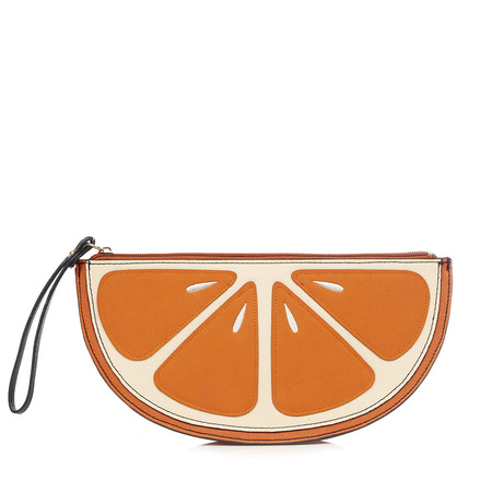 Fruit handbag feature - New Look orange bag - shopping bag - handbag