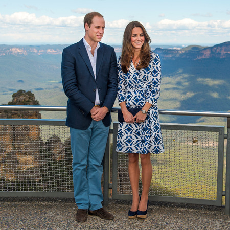 Kate Middleton and Prince William - the blue mountains - australia tour - dvf - diane von furstenberg pattern wrap dress - handbag.com