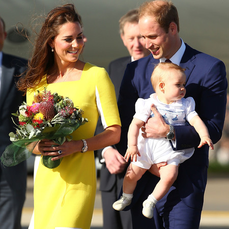 kate middleton - royal tour of australia 2014 - yellow dress - roksanda illincic - nude heels - prince william - prince george - handbag.com