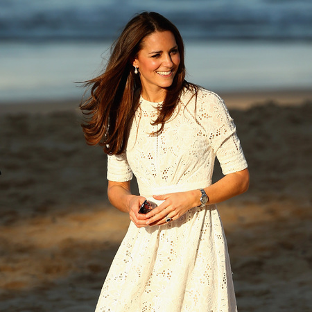 Kate Middleton - white lace dress - sydney - manly beach - australia tour dress - dresses - handbag.com
