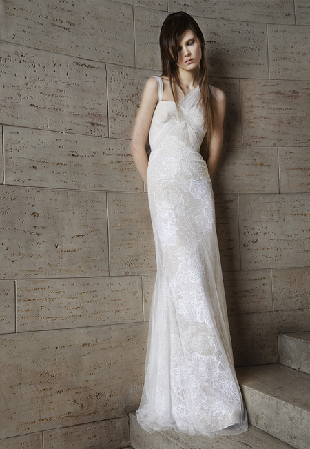 Vera Wang asymmetrical wedding dress