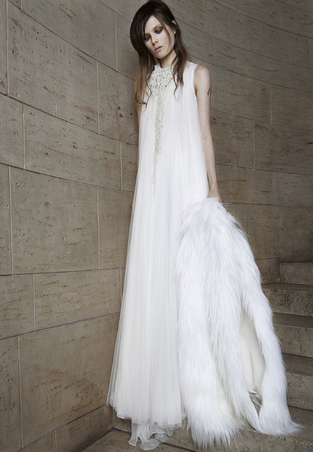 Vera Wang chiffon column dress