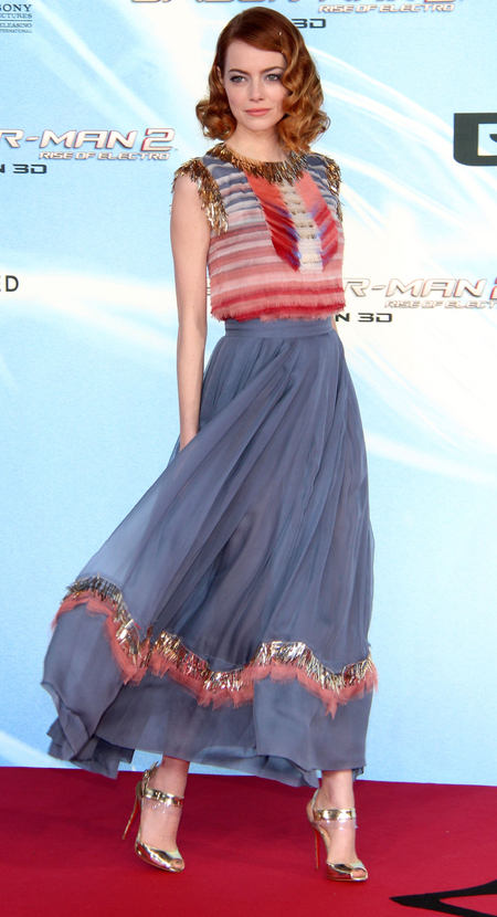 Floaty Chanel maxi skirt for Spider Man 2