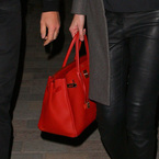 Lara Stone enjoys date night with Hermes