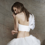 Would you wear a crop top wedding dress?