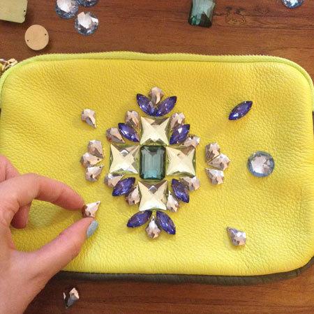 DIY fashion fix embellished clutch - shopping bag - handbag