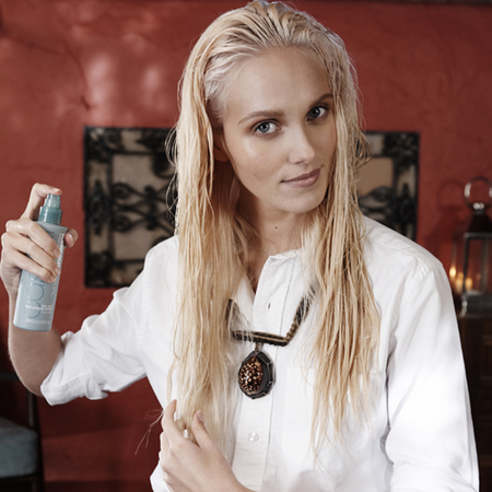 how to create tousled hair waves - toni guy-sea salt spray - step 2 - handbag.com
