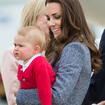 kate middleton - prince george - royal baby - tour of australia and new zealand 2014 - red jumper - grumpy face - cute celebrity children - handbag.com