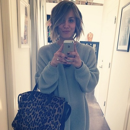 kaley cuoco - hair cut - short hair celebrities - wavy bob - beachy festival hairstyle - jennifer lawrence hair cut - handbag.com