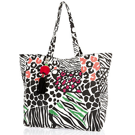 river island zebra print beach bag - holiday shopping - travel essentials - tote bag - colourful - print - handbag.com
