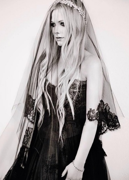 Avril Lavigne's black wedding dress