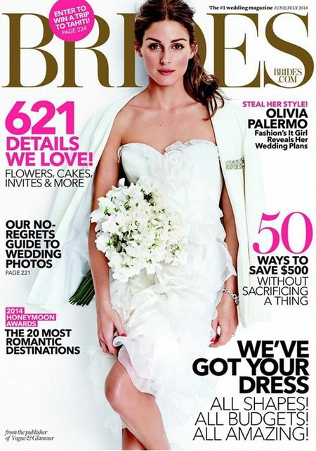 Olivia palermo on Bride Magazine - colourful wedding dress article - day bag - handbag.com