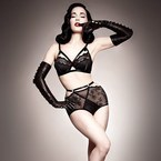 Dita Von Teese models her Star Lift collection