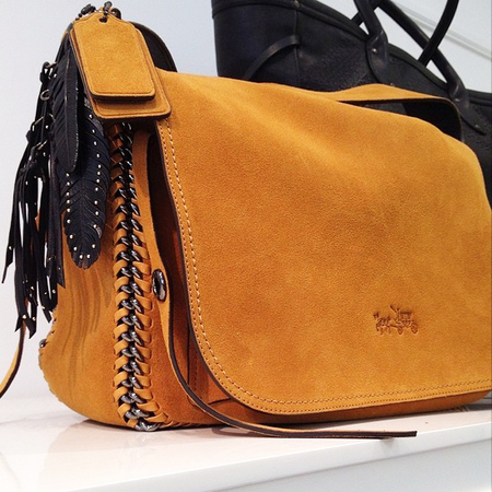 coach suede brown bag-autumn winter 2014-raising prices-new designer handbags-handbag.com
