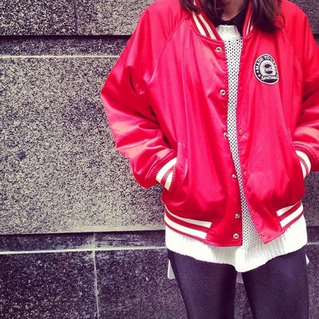 Fashion Trial - how to wear a bomber jacket to work - red bomber - cara delevingne style - handbag.com