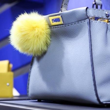 fendi-peekaboo-handbag-pom pom-spring summer 2014-blue-purple-green pom pom-designer handbag-handbag.com