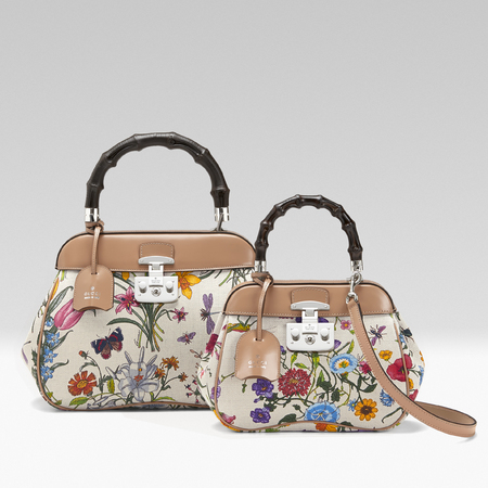 Gucci flora print Lady Lock - chelsea flower show garden - iconic flora print - shopping news - shopping bag - handbag.com
