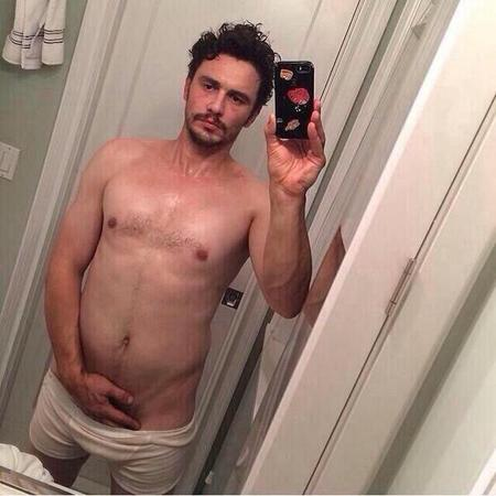 james franco - hands down pants - deleted instagram photo - picture - handbag.com