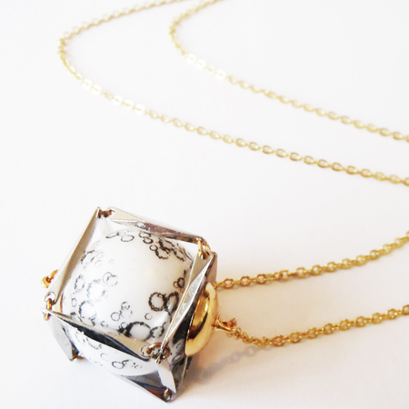 Lucy Hutchings cosmos necklace - designer necklace - buy it on your break - shopping ideas - designer jewellery - moon necklace - shopping bag - handbag.com