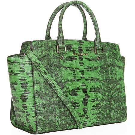 michael kors-green lizard print-selma satchel bag-new designer handbag-cheap designer bag-handbag.com