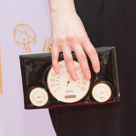 Sophie McShera Kate Spade clutch at the Television Academy Awards - downton abbey gets a kate spade makeover - shopping bag - handbag