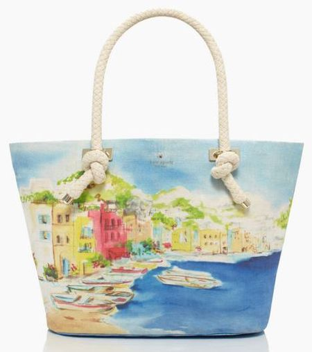 Via Limoni tourist tore kate spade - handbags that look like art - shopping bag - handbag