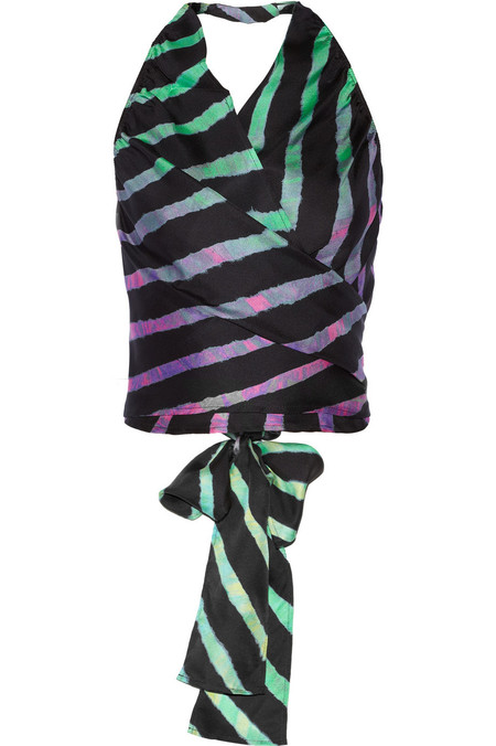 SUNO dip dye halterneck silk top - what to wear to a festival - festival fashion - shopping bag - handbag