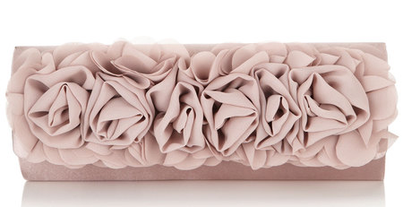 monsoon rose ruffle clutch - best wedding clutch bags - shopping bag -handbag